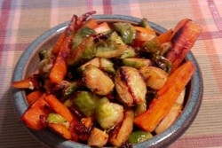Roasted Brussels Sprouts & Carrots