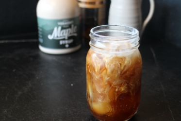Maple Bourbon Cold Brewed Iced Coffee