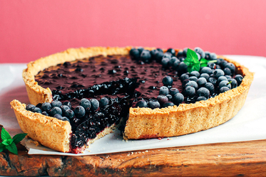 Thick Maple Blueberry Tart
