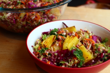 Maple Slaw with Grilled Pineapple