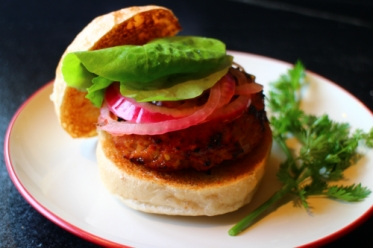 Spicy Maple Turkey Burgers with Maple Pickled Red Onion